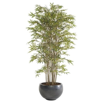 ARBRE BAMBU Plante artificielle décorative, finition deluxe. 2460 feuilles, pot inclus. Dimensions: hauteur 185 cm