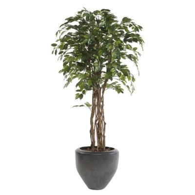 ARBRE FICUS Plante artificielle décorative, finition Eco. 1008 feuilles, pot inclus. Dimensions: hauteur 175 cm