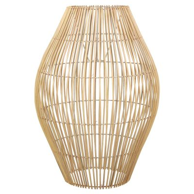 ASCHER MINI Lampe de style scandinave/tropical en rotin naturel. Dimensions: Ø50×70 cm