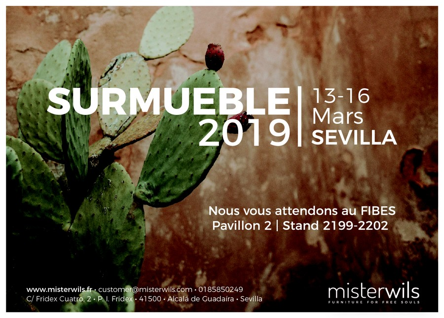 MisterWils aura son stand au salon SURMUEBLE 2019 MisterWils, furniture for free souls, vintage, scandinave, rétro, industriel...