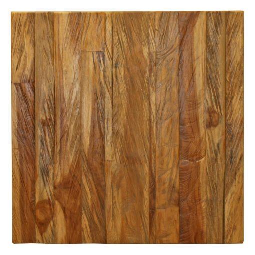 PLATEAU EN BOIS DE TECK Plateau en bois de teck naturel, finition vernis. Possibilité de fabrication sur mesure.