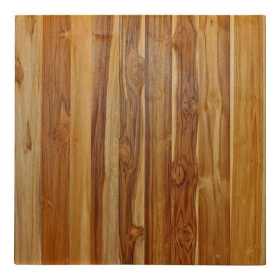 PLATEAU EN BOIS DE TECK Plateau en bois de cerisier naturel, finition vernis. Possibilité de fabrication sur mesure.