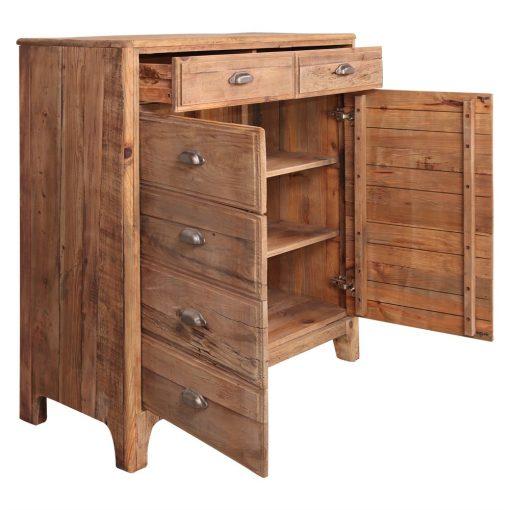 MISSISSIPPI Buffet en bois de pin recycle avec 10 tiroirs.