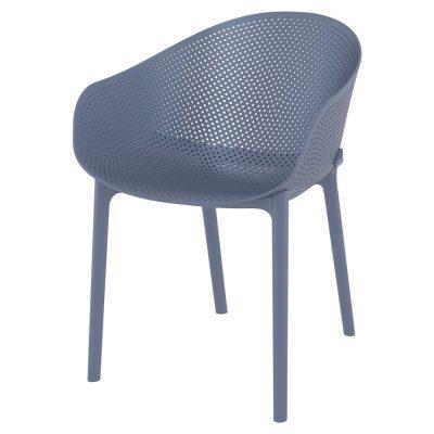 SKY Chaises avec accoudoirs fabriquées en polypropylène. Adaptées pour un usage extérieur. Couleurs disponibles: noir, blanc, gris Dimensions: 54,5x61x81 cmCommande minimale: 4 unités