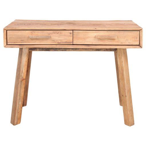 KEVIN .Console fabriquée en bois de pin recyclé avec deux tiroirs. Dimensions: 100x48x76 cm