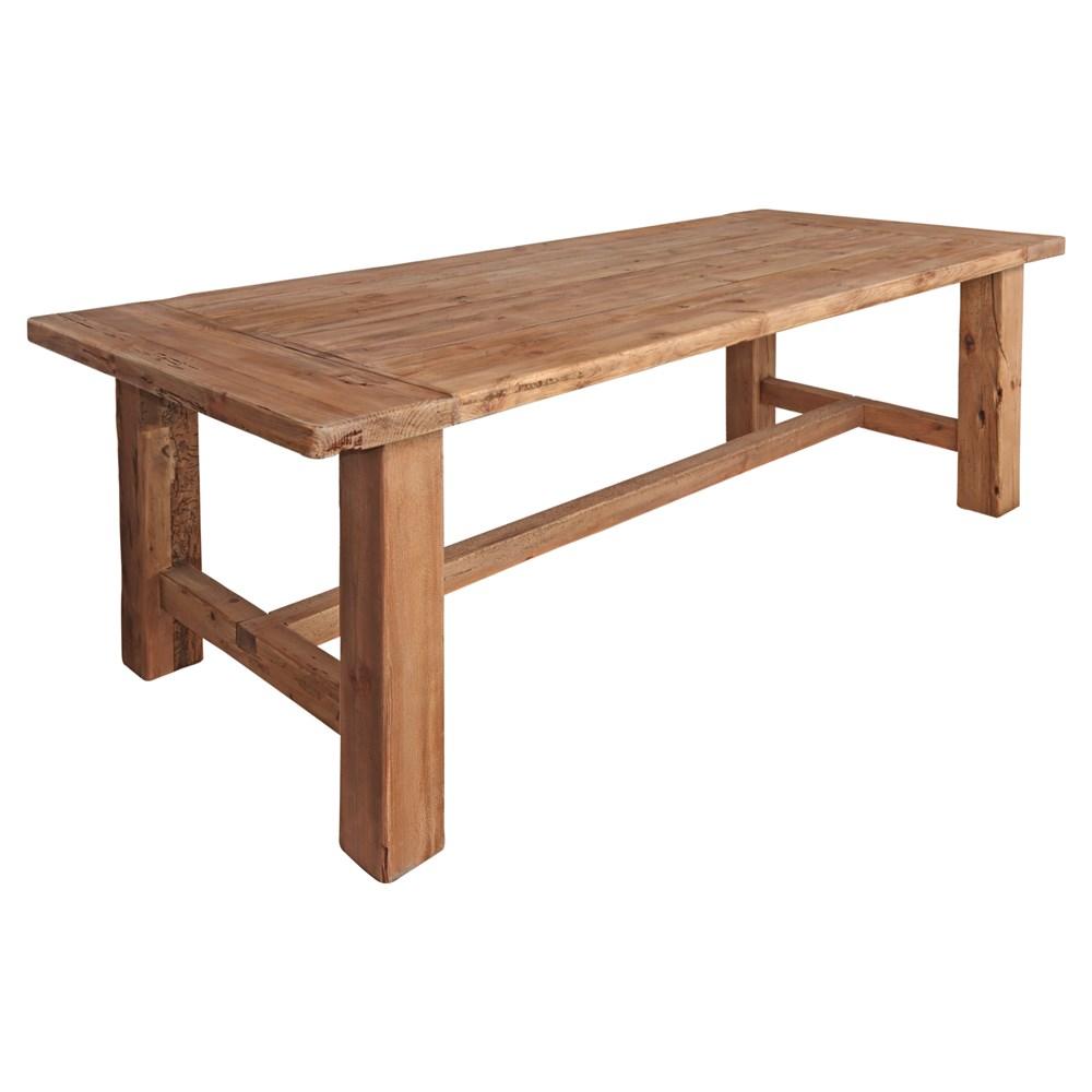 MISURI BIG Table de style rustique vintage fabriquée en bois de pin recyclé..Dimensions: 270x100x76 cm