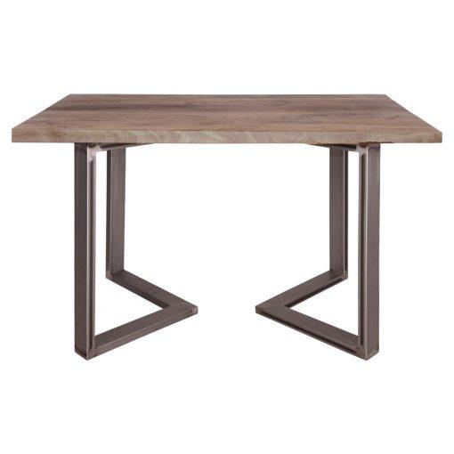 GUITARRA BARNIZ Table de style industriel contemporain. Structure en tubes d'acier, finition oxydé, plateau en bois de manguier.Dimensions: Hauteur 75 cm