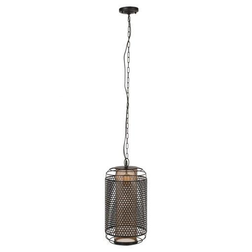 ACHERON Lampe de plafond de style industriel type cage, fabriqué en acier. Finition peinture powder coated.Culot: E27. Max 40W.Dimensions: : Ø26,5×57 cm