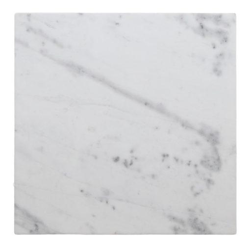 PARSON CARRÉ Plateau en marbre blanc aux bords arrondis. MisterWils, furniture for free souls, industriel, scandinave, bistrot, vintage, mid century...