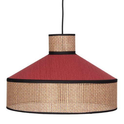 HOODIE RED Abat-jour pour lampe plafonnier en fibres naturelles | Trouvez-le chez Mister Wils. Plus de 4000m² d'exposition. Buffets, étagères, luminaires, tables, chaises, canapés et banquettes, tabourets, ventilateurs, plantes artificielles...