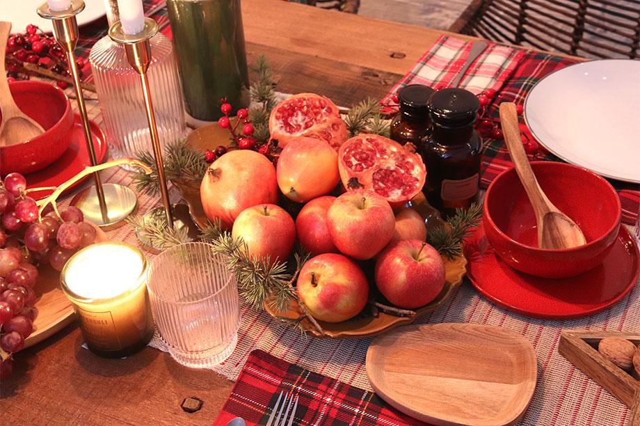 Tables de Noël qui associent aromes et couleurs