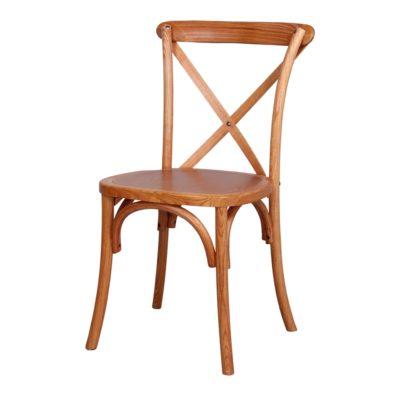 DIANA Chaise en bois style bistrot. Finition chêne.
