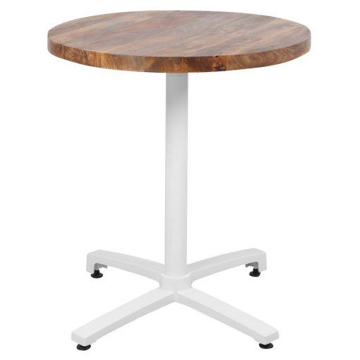 OWEN TABLE WHITE Table avec plateau en bois et pied en aluminium. Trouvez-la chez Mister Wils. Plus de 4000m² d'exposition. Buffets, étagères, luminaires, tables, chaises, canapés et banquettes, tabourets, ventilateurs, plantes artificielles...