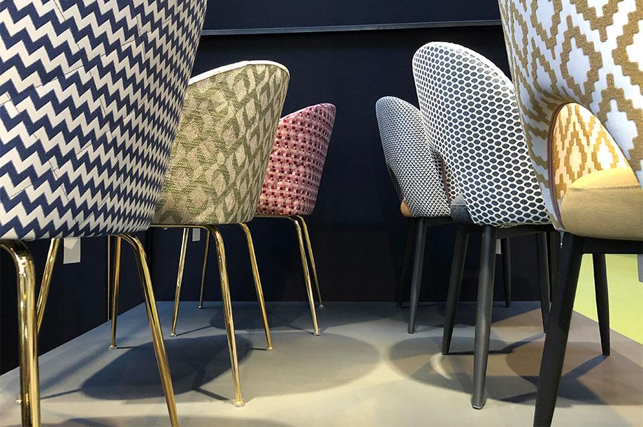 Les nouvelles chaises tapissées que nous avons présentées à la Foire de Saragosse