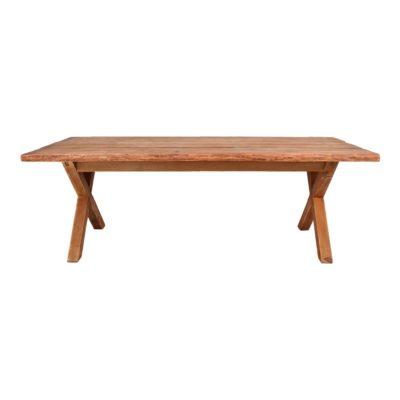 TRESTEL Table en bois de pin recyclé massif de style vintage. Trouvez-la chez Mister Wils. Plus de 4000m² d'exposition. Buffets, étagères, luminaires, tables, chaises, canapés et banquettes, tabourets, ventilateurs, plantes artificielles...