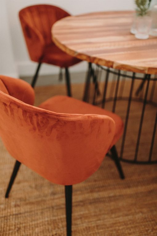 GOTEMBURGO MINI Table de style industriel en acier et bois de manguier | Trouvez-le chez Mister Wils. Plus de 4000m² d'exposition. Buffets, étagères, luminaires, tables, chaises, canapés et banquettes, tabourets, ventilateurs, plantes artificielles...