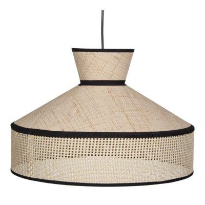 HOODIE ROTIN Lampe de plafond fabriquée en fibres naturelles et en rotin. | Trouvez-le chez Mister Wils. Plus de 4000m² d'exposition.