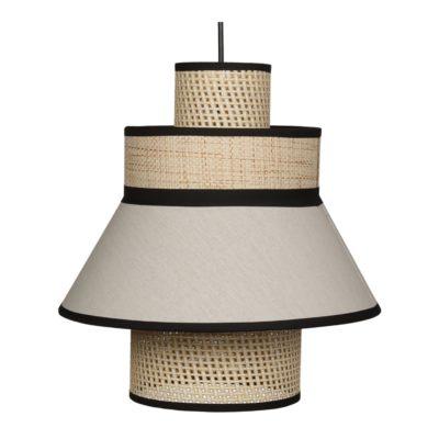 TOBIO ROTIN Lampe de plafond fabriquée en tiges de fibres naturelles et rotin| Trouvez-la chez MisterWils. Plus de 4000m² d'exposition.