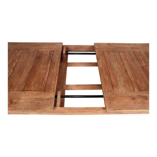 ORTEGA Table de salle à manger extensible de style rustique vintage fabriquée en bois de pin recyclé.   Trouvez-la chez Mister Wils. Plus de 4000m² d'exposition. Buffets, étagères, luminaires, tables, chaises, canapés et banquettes, tabourets, ventilateurs, plantes artificielles...