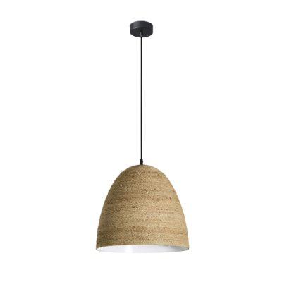 LIANA Lampe de plafond de style scandinave avec abat-jour en chanvre | Trouvez-la chez MisterWils Plus de 4000m² d'exposition.