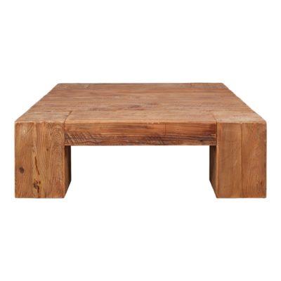 HUDSON Table basse avec plateau carré fabriqué en bois de pin recyclé. | Trouvez-la chez Mister Wils. Plus de 4000m² d'exposition.