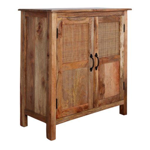 CHACK Buffet de style Exotique fabriqué en bois de manguier et cannage | Trouvez-le chez MisterWils. Plus de 4000m² d'exposition.
