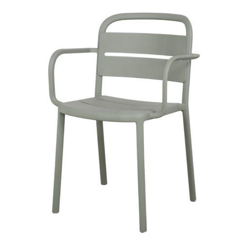 COMO ARMCHAIR Chaise empilable pour un usage intérieur ou extérieur. Structure et assise en polypropylène. Protection anti-UV.