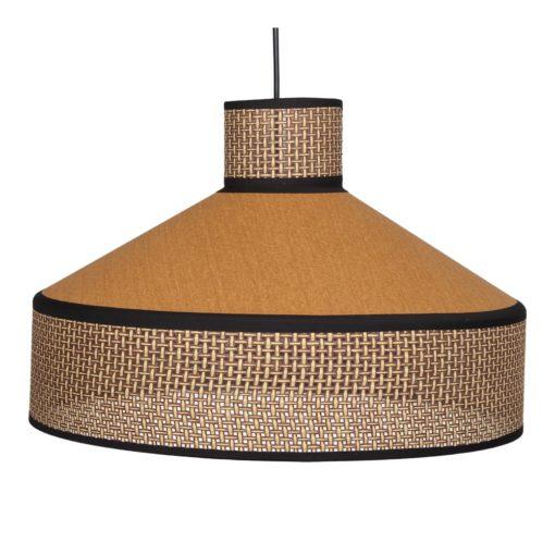 HOODIE CURRY Lampe de plafond fabriquée en tiges de fibres naturelles et tissu | Trouvez-le chez Mister Wils. Plus de 4000m² d'exposition. Buffets, étagères, luminaires, tables, chaises, canapés et banquettes, tabourets, ventilateurs, plantes artificielles...