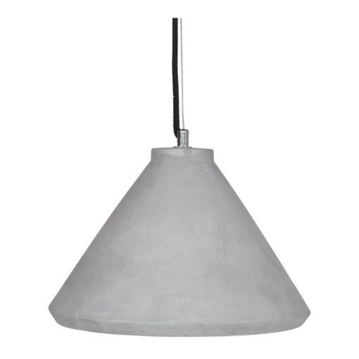 VLADIMIR Lampe plafonnier de style Brutaliste avec abat-jour en ciment et câble recouvert en coton tressé | Trouvez-la chez MisterWils. Plus de 4000m² d'exposition