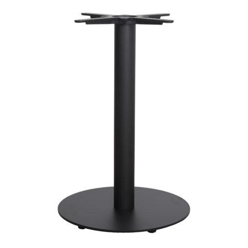 DUKE Structure-pied de table central de style Mid Century-Contemporain fabriqué en acier. Finition peinture powder coated noire.