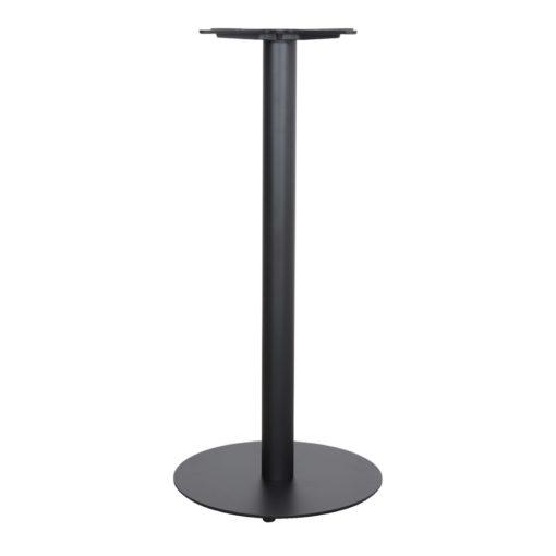 DUKE Structure-pied de table central de style Mid Century-Contemporain fabriqué en acier. Finition peinture powder coated noire.2