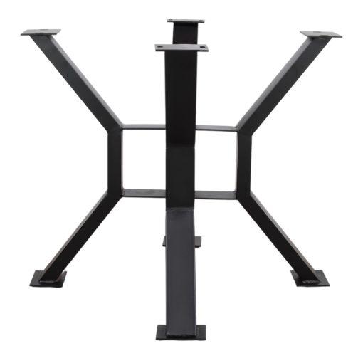 JAMESON Structure – Pied de table en acier avec finition peinture powder coated noire, pour table de style Industriel - Contemporain.