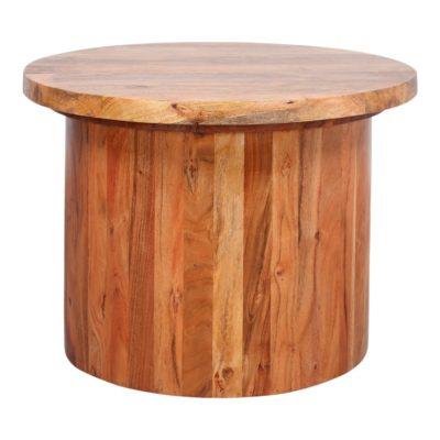 CORIX MANGO Table de style Japandi avec structure fabriquée en bois de manguier et plateau en bois de manguier modèle Delhi.