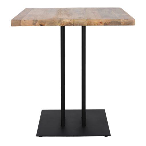SIDECAR BLACK Table de style industriel avec structure en acier, finition peinture. Plateau en bois. Fabrication sur mesure.