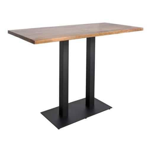 FERRO DUO Table de style industriel avec structure en acier, finition peinture. Plateau en bois. Fabrication sur mesure.