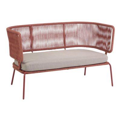 NADIN 2 PL Canapé 2 places de style Contemporain avec structure en tubes d'acier, finition peinture. Assise en corde de polyester.