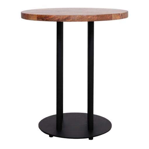 SINGAPORE Table avec pied central de style Contemporain fabriquée en acier et finition peinture powder coated noire.
