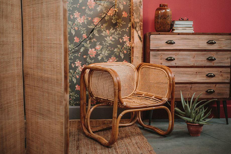 ejemplos de muebles de fibras naturales