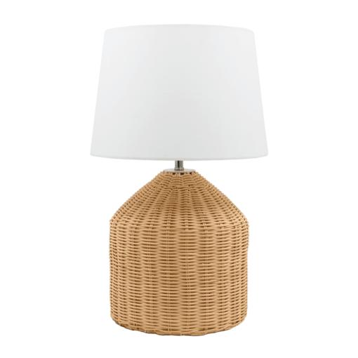 LAMPE DE TABLE AVONY en rotin de style Scandinave | Trouvez-la chez MisterWils. Plus de 4000m² d'exposition.