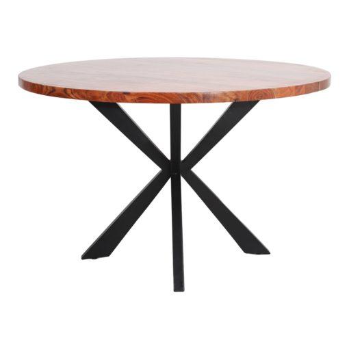 TABLE DE SALLE À MANGER EN MÉTAL ET BOIS OKSANA   Trouvez-la chez MisterWils. Plus de 4000m² d'exposition. 1