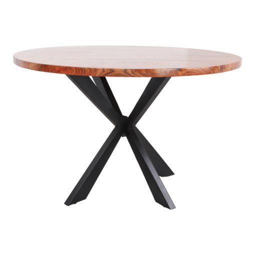 TABLE DE SALLE À MANGER EN MÉTAL ET BOIS OKSANA   Trouvez-la chez MisterWils. Plus de 4000m² d'exposition. 2